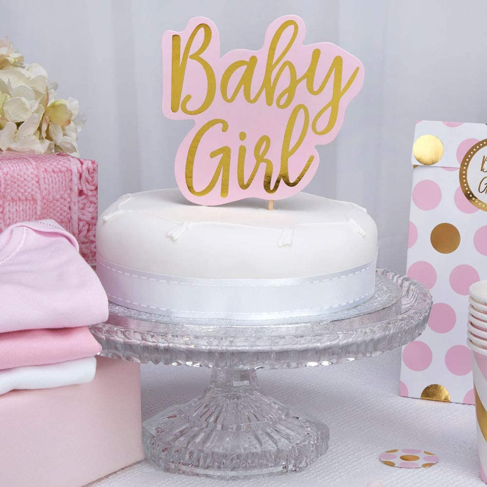 Cake Topper Neviti Pattern Works Baby Girl Pink