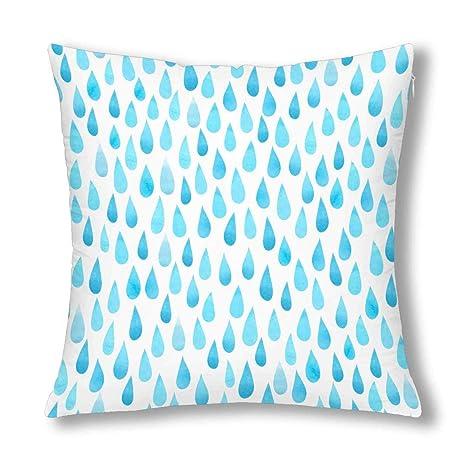 Kinhevao Acuarela Gotas de Lluvia estilizada Azul Gotas de ...