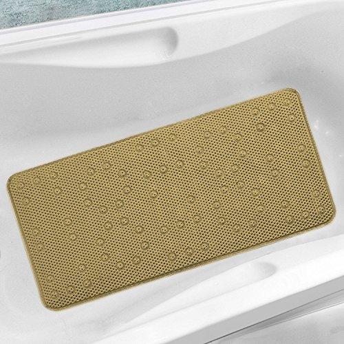 Amazing Antibacterial Cushioned Waffle Non Slip PVC Foam Bath Tub Mat (Taupe)