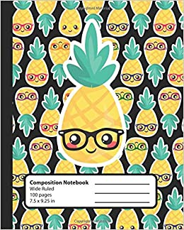 Composition Notebook Pineapple Nerd Kawaii Book For Girls