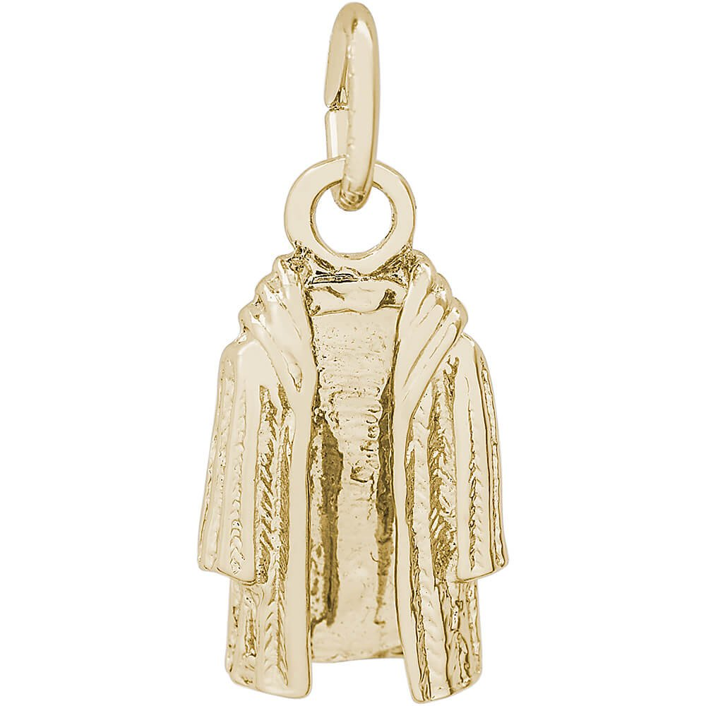 Rembrandt Charms 14K Yellow Gold Fur Coat Charm (0.57 x 0.36 inches)