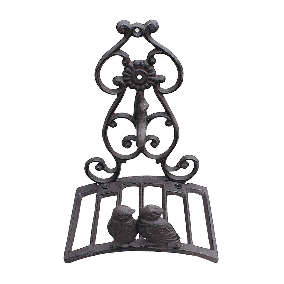 Sungmor Heavy Duty Cast Iron Garden Hose Holder,Wall Mounted Hose Rack,Decorative Hose Hanger,Antique Garden & Yard Decorations