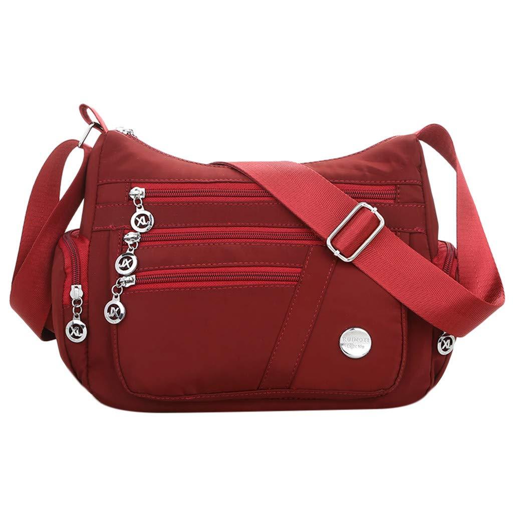 Lomsarsh Bag Women Cloth Bag Nylon Messenger Single Shoulder Crossbody Bag Waterproof Bags Diagonal Package Mother Casual Wild Bag