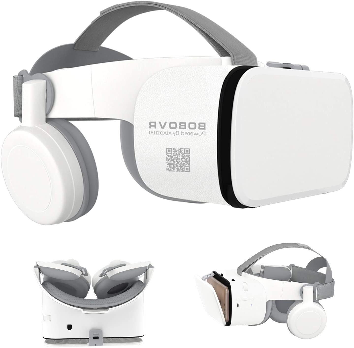 3D Virtual Reality Headset, 3D VR Glasses Viewer with Remote [Bluetooth] for iOS iPhone 12 11 Pro Max Mini X R S 8 7 Samsung Galaxy S10 S9 S8 S7 Edge Note/A 10 9 8 + Other 4.7-6.2