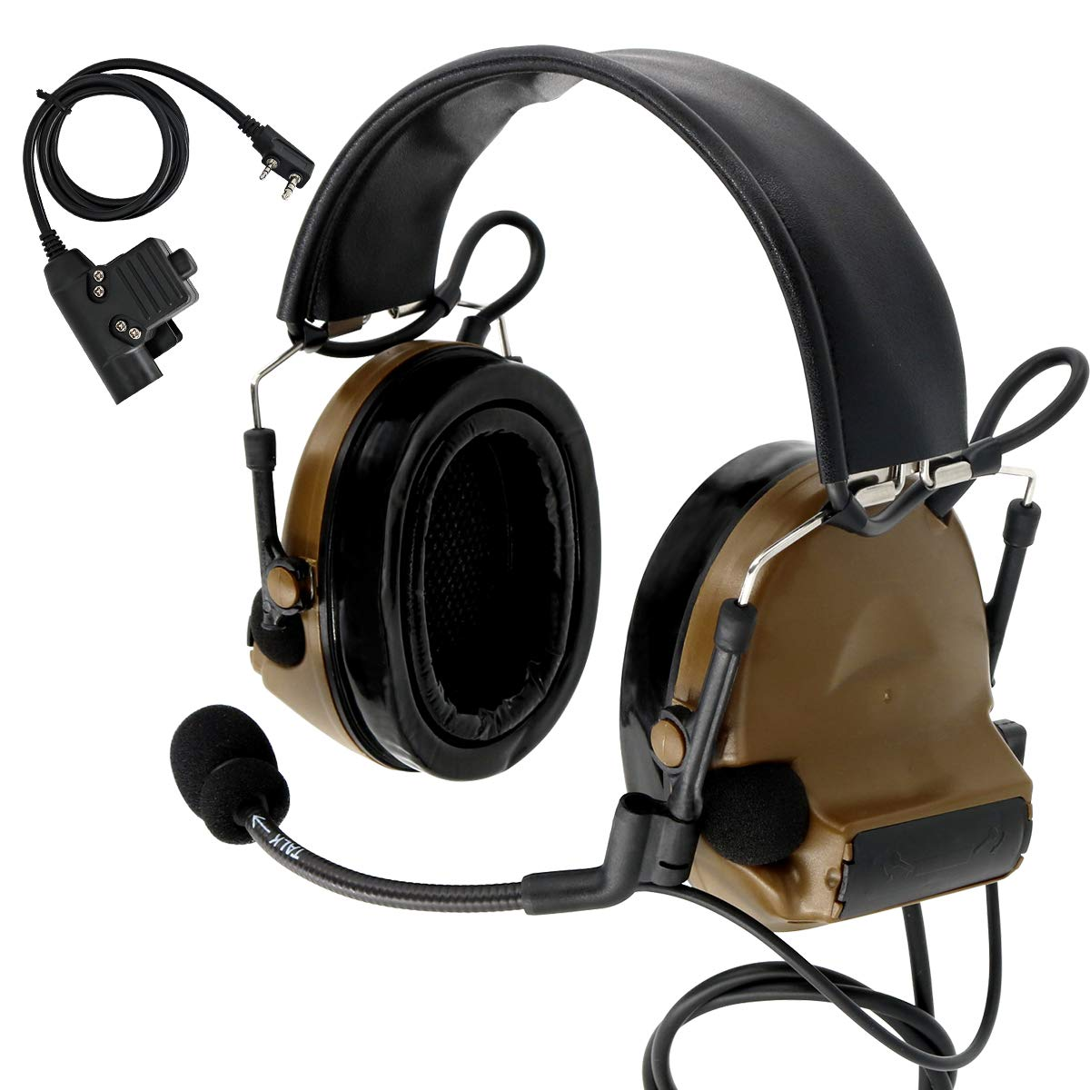 TAC-SKY COMTA II Tactical Headset Hearing Defender Noise Reduction Sound Pickup for Airsoft Sports by TAC-SKY