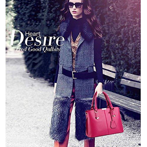 red Look AVERIL Handbag Top Shoulder Leather G Handle Women Colour New 10 2018 Wine Fashion ZCYYqx6w