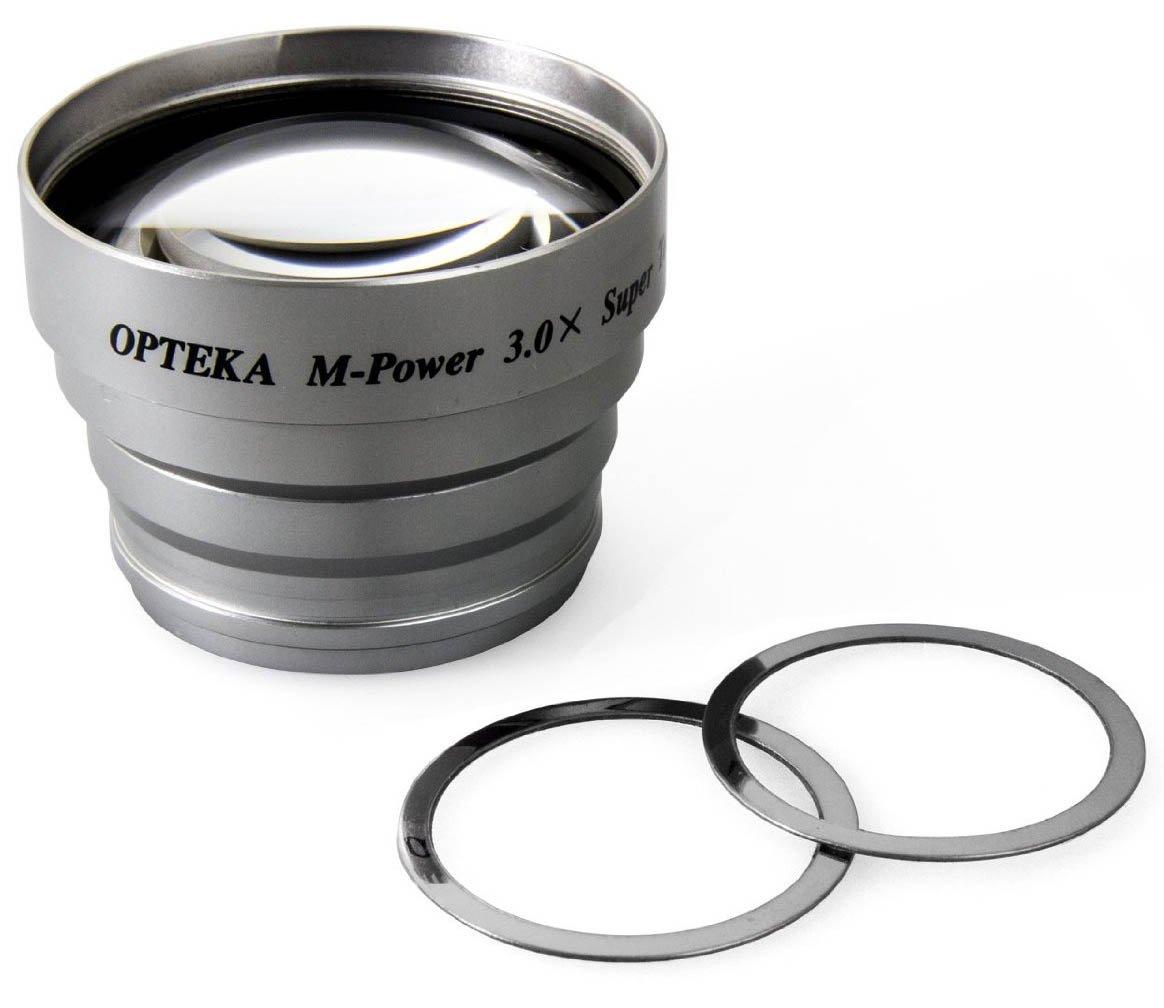 Opteka 3x Telephoto Converter Magnetic Magnet Lens for Canon Powershot A10, A20, A30, A40, A60, A60, A70, A75, A80, A80 POWER PLUS, A85, A95, A400, A520, SD700, SD800, A710, A640, A630, A620, A610, A540, A530, A520, A510, A560, A570, A580, A590, A600, SD8