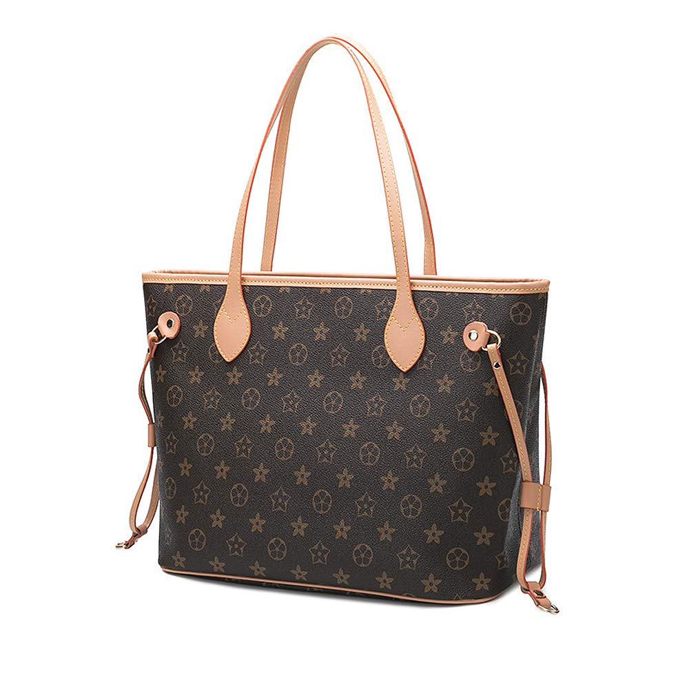 a3bffa0c4d86 Olyphy Designer Leather Tote Bags Set for women, Fashion PU Tote Handbags  Purse, Top Handle Shoulder Bags,Brown