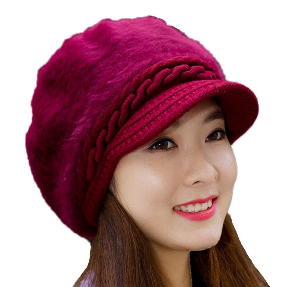 DaoRier 1pc Sombrero de Punto Espesado Sombrero de Punto de Lengüeta de pato Caliente Patito de Leng...