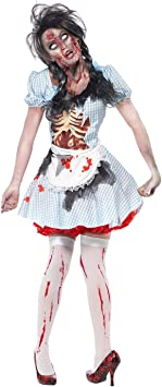 Smiffys Disfraz de chica zombi de Kansas, con vestido, dibujo de ...