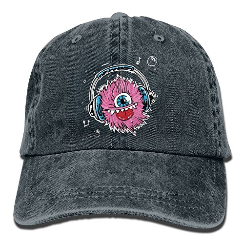 Uanqunan Music Monster Unisex Cotton Denim Baseball Cap - Monster High Economy Dolls