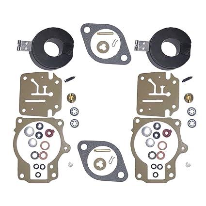 Amazon com: 2x 396701 Carb Repair Rebuild Kits With Floats Fits 60hp