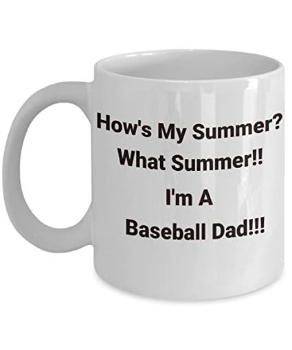 Amazon com: Baseball Dad mug - #1 funny summer vacation camp travel