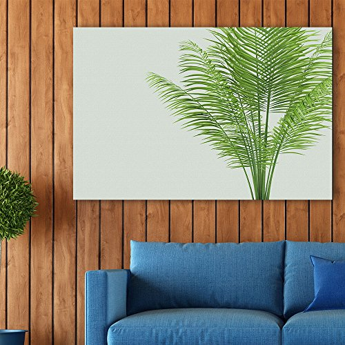 wall26 Canvas Wall Art - Watercolor Style Plant with Narrow Leaves - Giclee Print Gallery Wrap Modern Home Decor Ready to Hang - 24x36 inches (Garden Fern Wood)