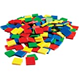 ETA hand2mind Plastic Color Square Tiles, Set of 400