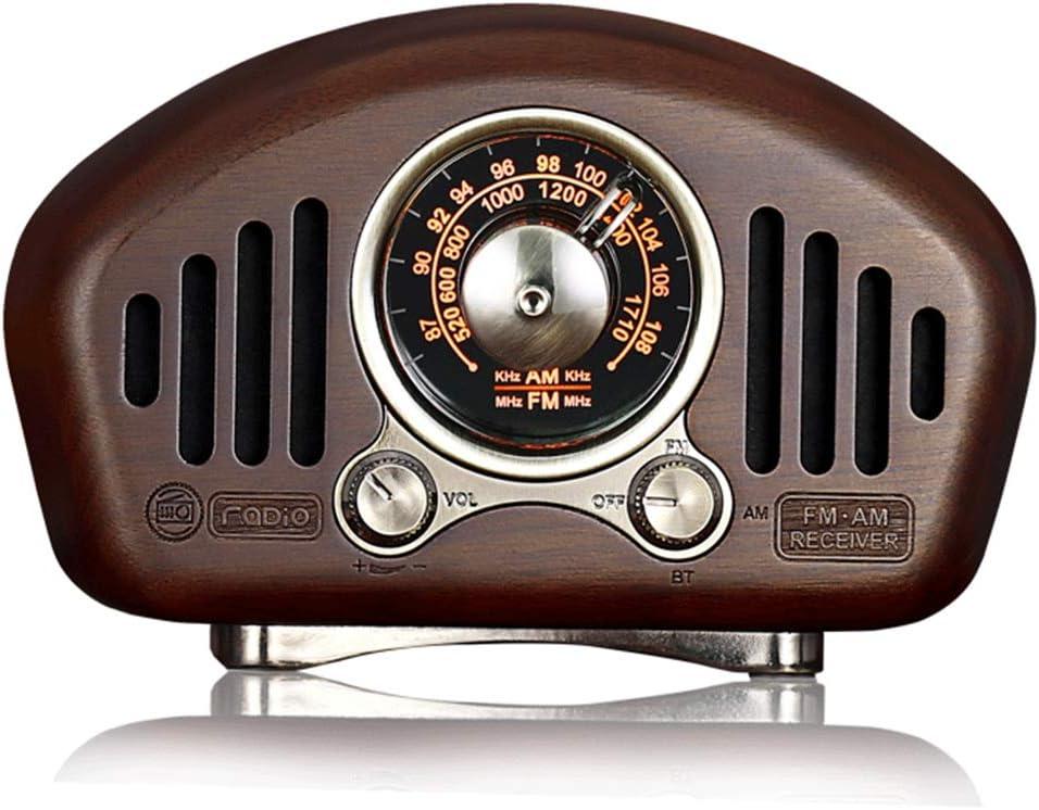 Vintage Radio Portátil Bluetooth Altavoz, Pequeña Radio Am FM Retro Radios Transistor con Mejora de Graves Volumen Alto, MP3 Reproductor, Tarjeta TF, AUX, Bluetooth 5.1, Recargable