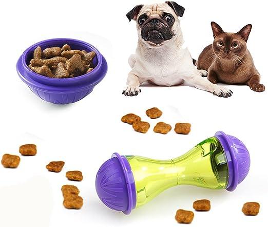 Xpccj Comedero dispensador de Comida para Mascotas, Juguete Interactivo para Gatos, Juguetes para Mascotas con Forma de Hueso para Masticar Juguetes dispensadores de Alimentos para Perros y Gatos: Amazon.es: Hogar