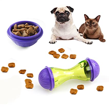 Xpccj Comedero dispensador de Comida para Mascotas, Juguete Interactivo para Gatos, Juguetes para Mascotas