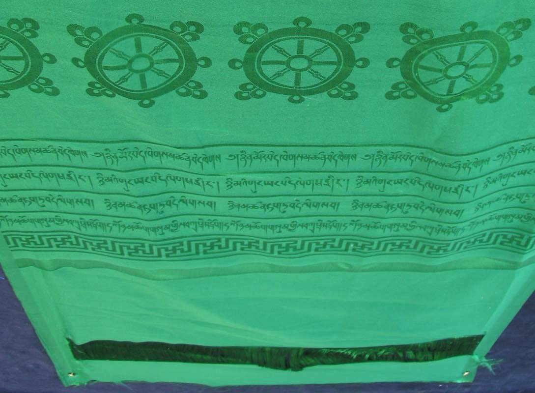BUDDHAFIGUREN Bufanda ceremonial budista blanca 30 x 140 cm Khata Kata Lucky Buddha Scarf
