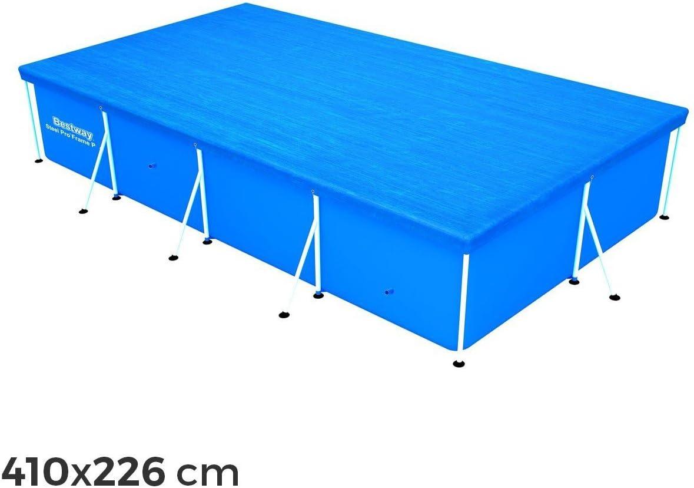 58107 Cubierta piscina rectangular de 410x226 cm Bestway en el PE ...