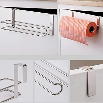 Portasciugamani in carta Alinory dispenser portasciugamani di carta sotto il rack portarotolo di carta senza perforazione