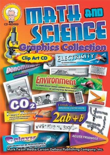 Carson Dellosa Mark Twain Math and Science Graphic Collection CD Clip Art (405000)