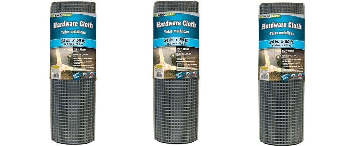 Silver Pack of 2 YARDGARD 308247B Hardware Cloth 24-Inch x 50-Foot
