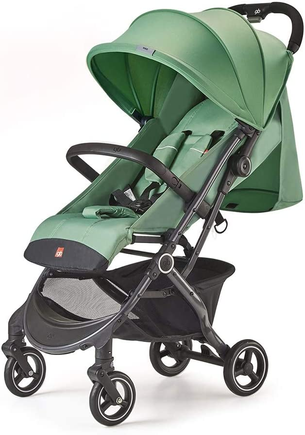 Cylficl 0から36ヶ月の赤ちゃんのベビーカーのためのベビーカー軽量で快適な折り畳み式の傘缶リクライニング (Color : Green)