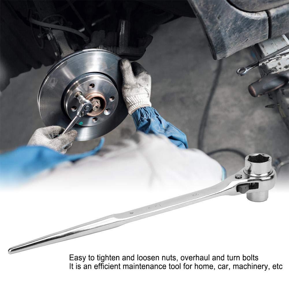 Llave de trinquete de dise/ño de punta-cola f/ácil de atornillar para herramientas de mano dom/ésticas llave de tubo