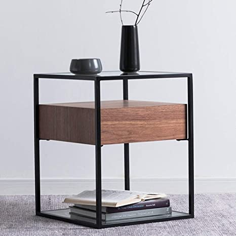 Amazon.com: Mesa plegable Chunlan salón mesa auxiliar con ...
