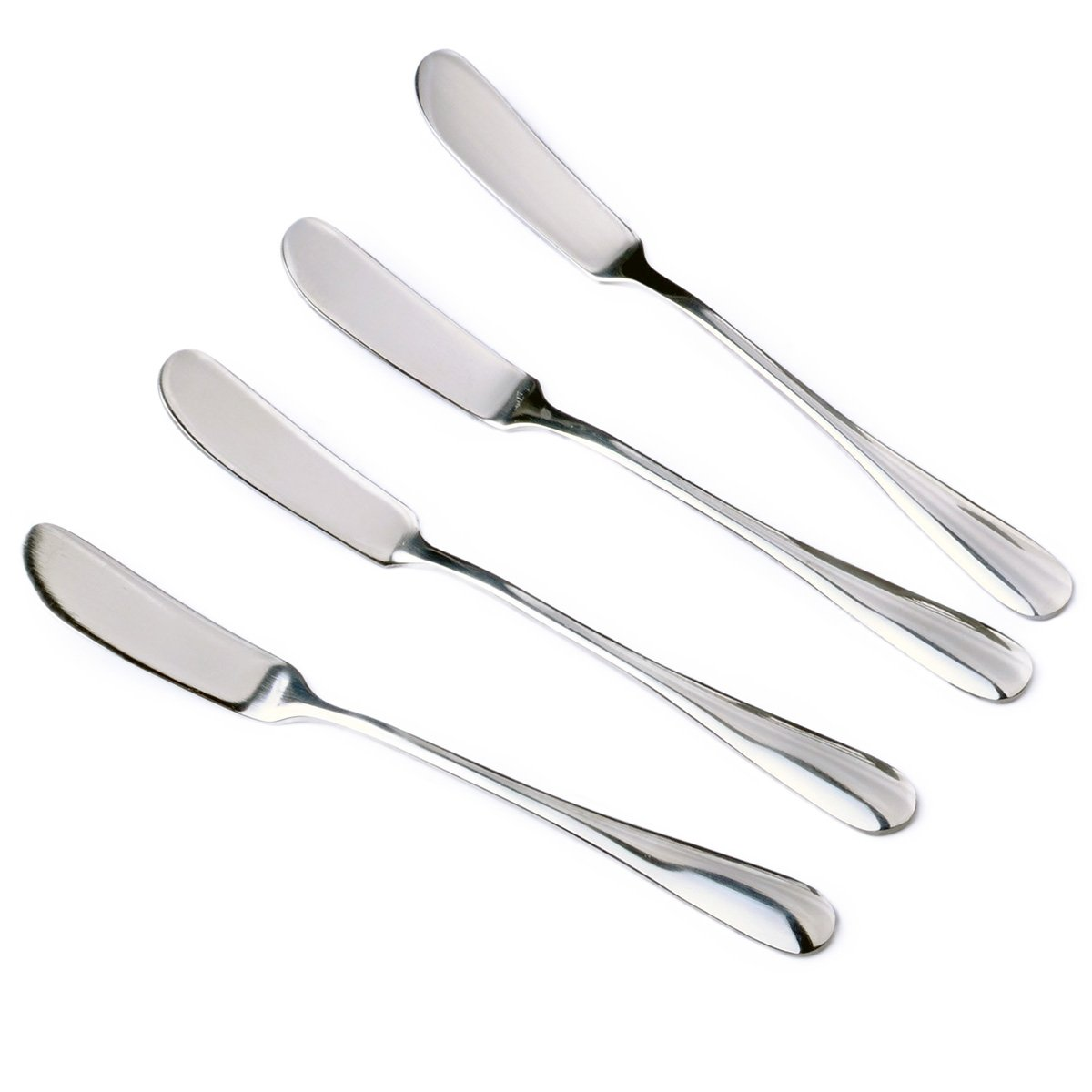 Zelta Stainless Steel Spreaders Silver, Packs of 4