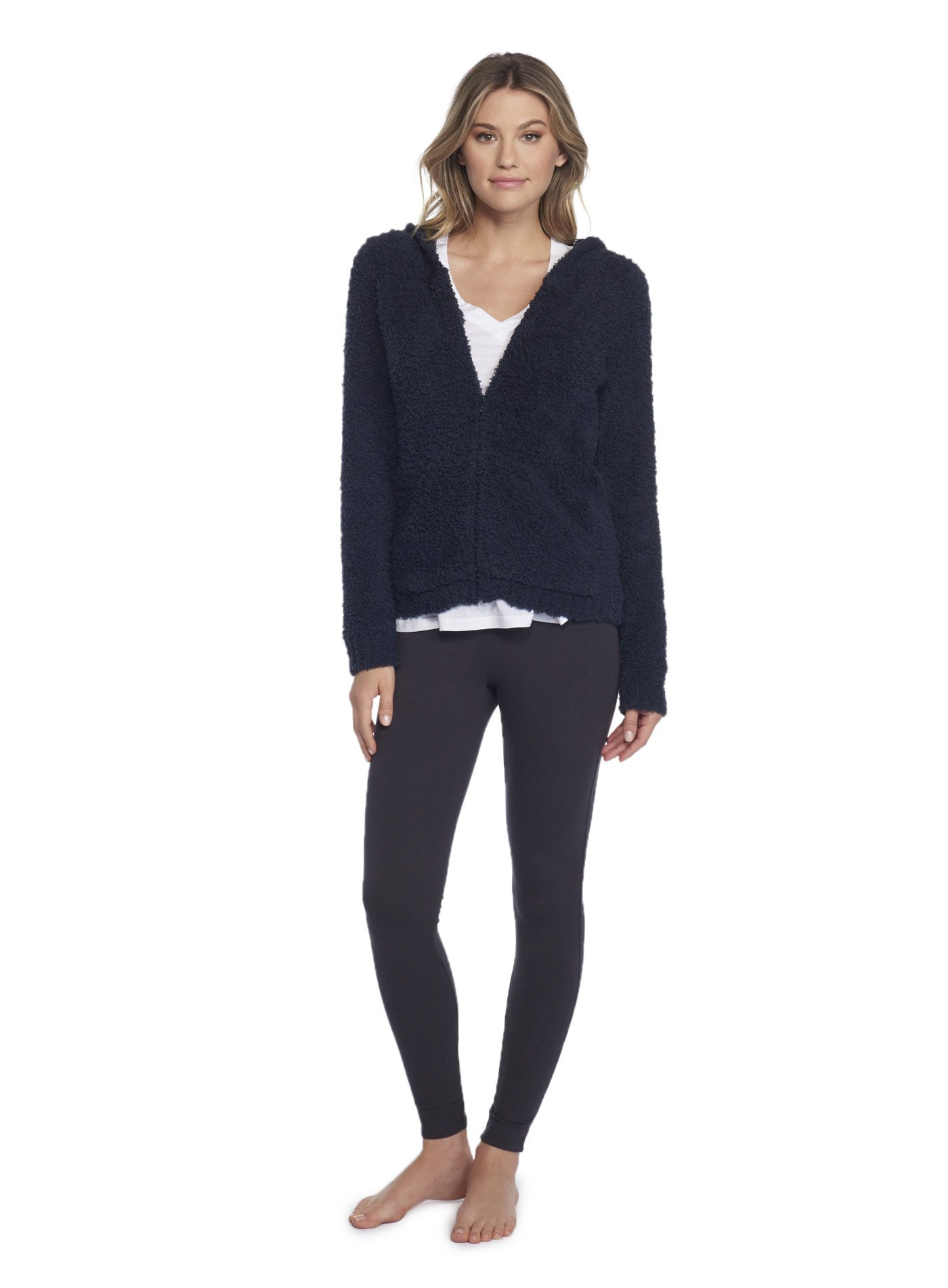 Barefoot Dreams Cozychic Women's Zip Up Hoodie Indigo by Barefoot Dreams