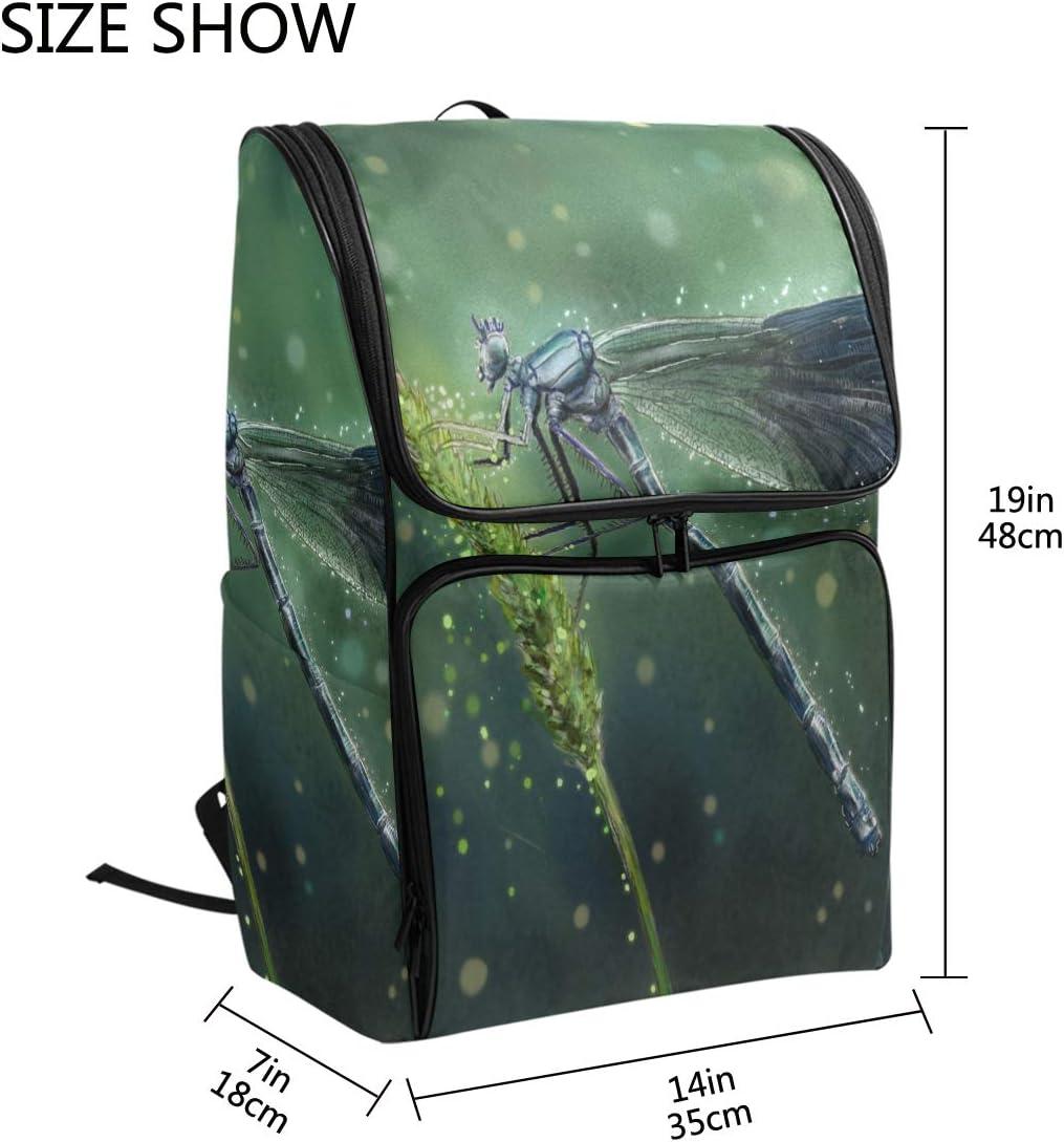 TropicalLife Animal Dragonfly Multipurpose Backpacks College School Bookbag Hiking Travel Casual Daypack