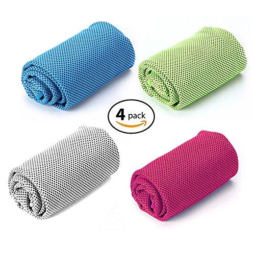 Amazon.com: WaterLuu toalla de enfriamiento por evaporación ...
