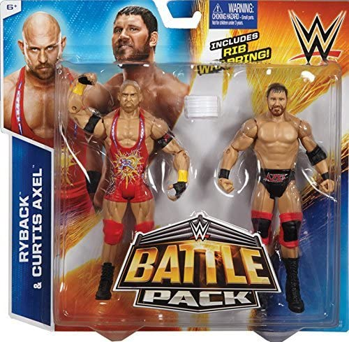 CURTIS AXEL & RYBACK - WWE BATTLE PACKS 35 WWE TOY WRESTLING ACTION FIGURE 2-PACKS by MATTEL: Amazon.es: Juguetes y juegos