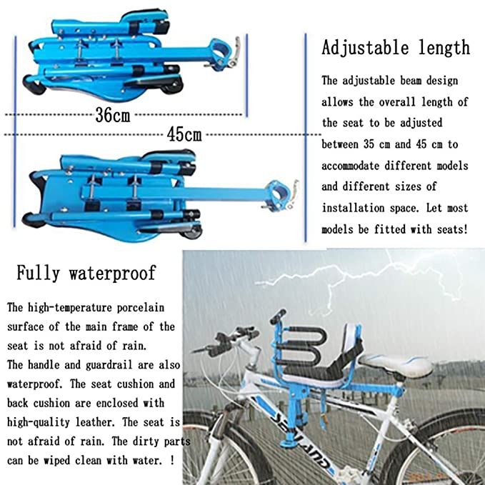 FHGH Silla Bicicleta NiñO,Asiento Bicicleta NiñO Asiento Infantil para Bicicleta Bicicleta De MontañA VehíCulo Recreativo Bicicleta Plegable Asiento Seguridad Bebé Asiento Delantero: Amazon.es: Hogar