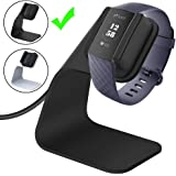 CAVN Compatible Fitbit Charge 3 / Charge SE Charger Dock, Replacement Charging Cable Cord Stand Cradle Base with 4.2 ft USB Cable Accessories Compatible Fitbit Charge 3 Smartwatch (Black)