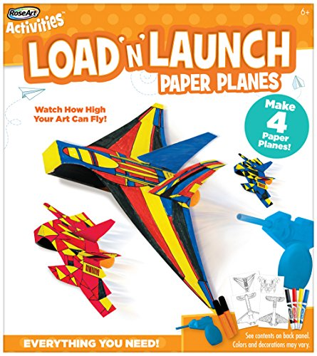 RoseArt Load-n-Launch Paper Planes Craft Kit Dart Paper Airplane
