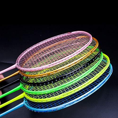 Senston N80-YT Jointless Badminton Racket Single High-Grade Badminton Racquet Carbon Fiber Badminton Racket Green with Racket Cover and Overgrip by Senston (Image #4)