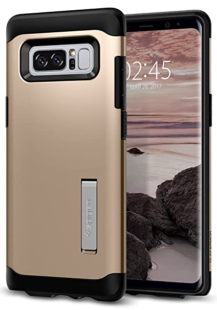 buy popular 4926f 09002 Spigen Slim Armor Galaxy Note 8 Case with Air Cushion Technology and Hybrid  Drop Protection for Galaxy Note 8 (2017) - Champagne Gold