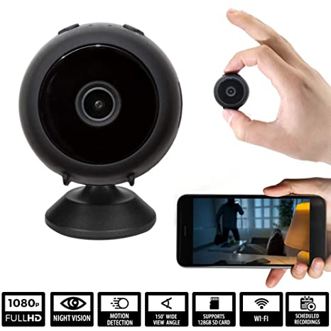 Wifi Cameras For Home Security Wireless Hidden Spy Camera Mini Spy Cam Surveillance System Night Vision Cloud Storage Motion Detection Phone App