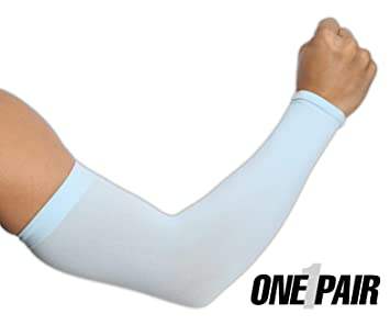 f22ca8b4d1731 UV Protection Cooling Arm Sleeves - UPF 50 Compression Sun Sleeves for Men  & Women for Running, Cycling, Fishing, Golf, Volleyball, Basketball, ...