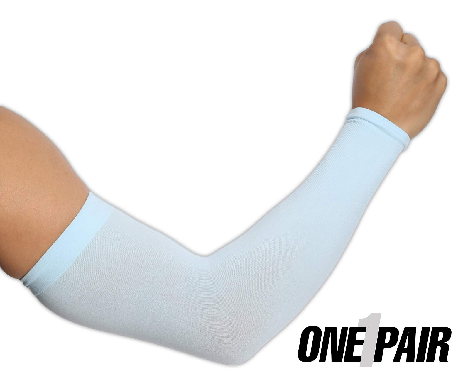 81b49f15af UV Protection Cooling Arm Sleeves - UPF 50 Long Sun Sleeves for Men   Women.