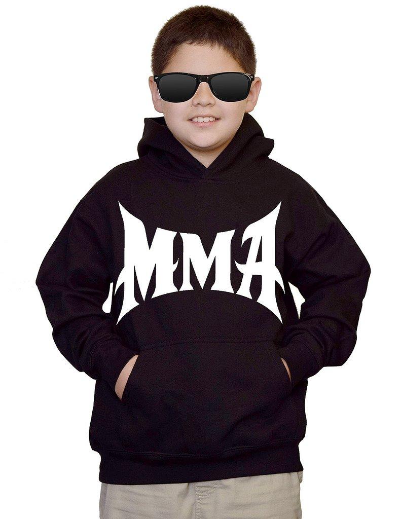Youth MMA Logo Black kids Sweatshirt Hoodie Large