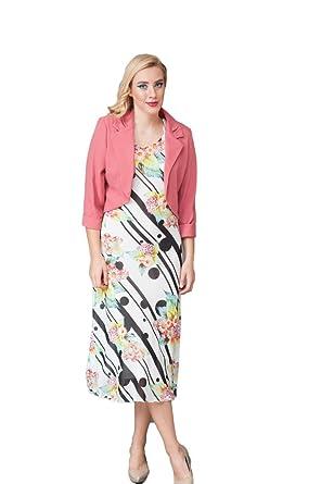 Damen Kleid und Jacke Outfit – pink – Hochzeit/Kirche/Party Formale ...