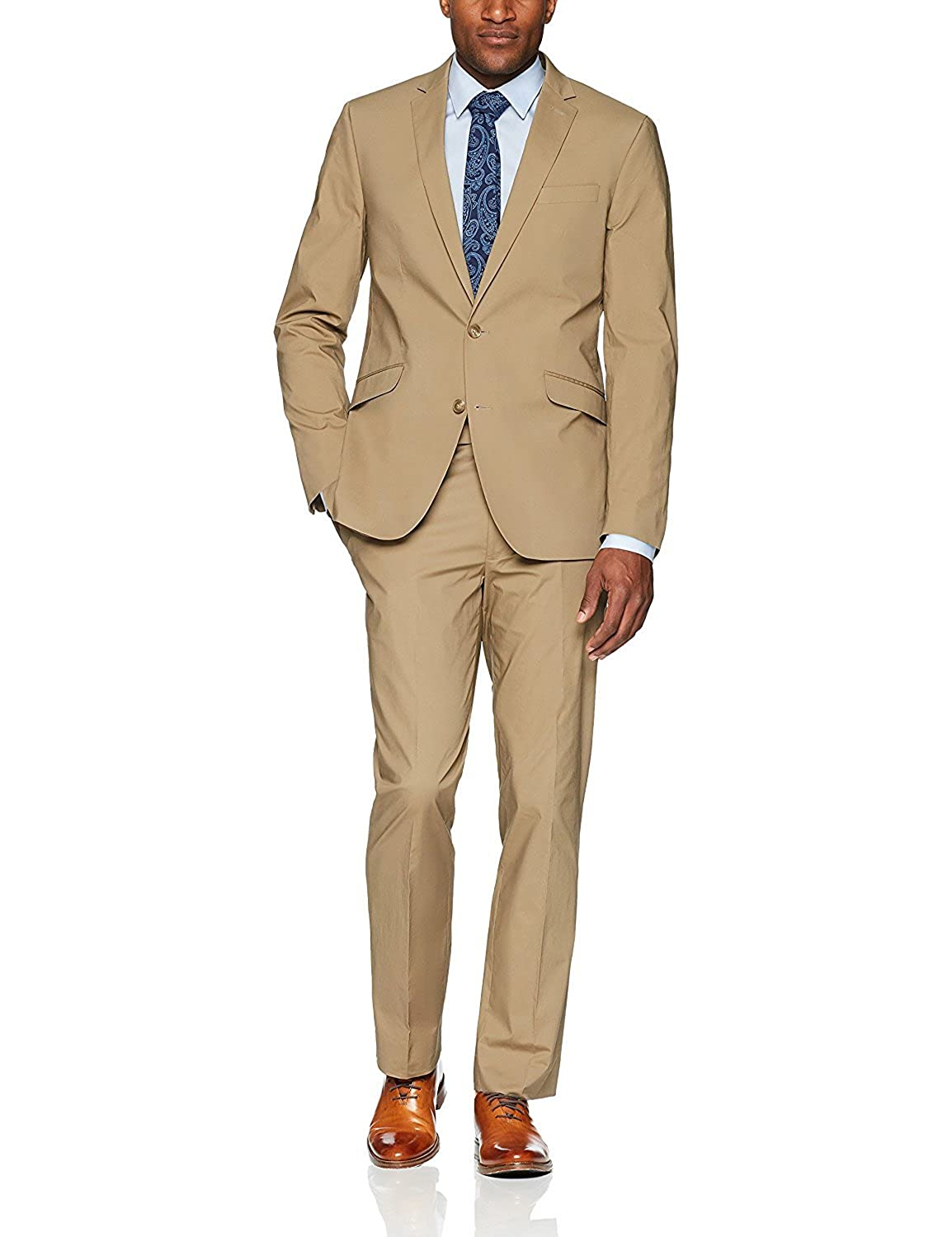 Lilis Men's Two Button Designer Light Weight Suit with Hemmed Pant Set Suit LL18061501