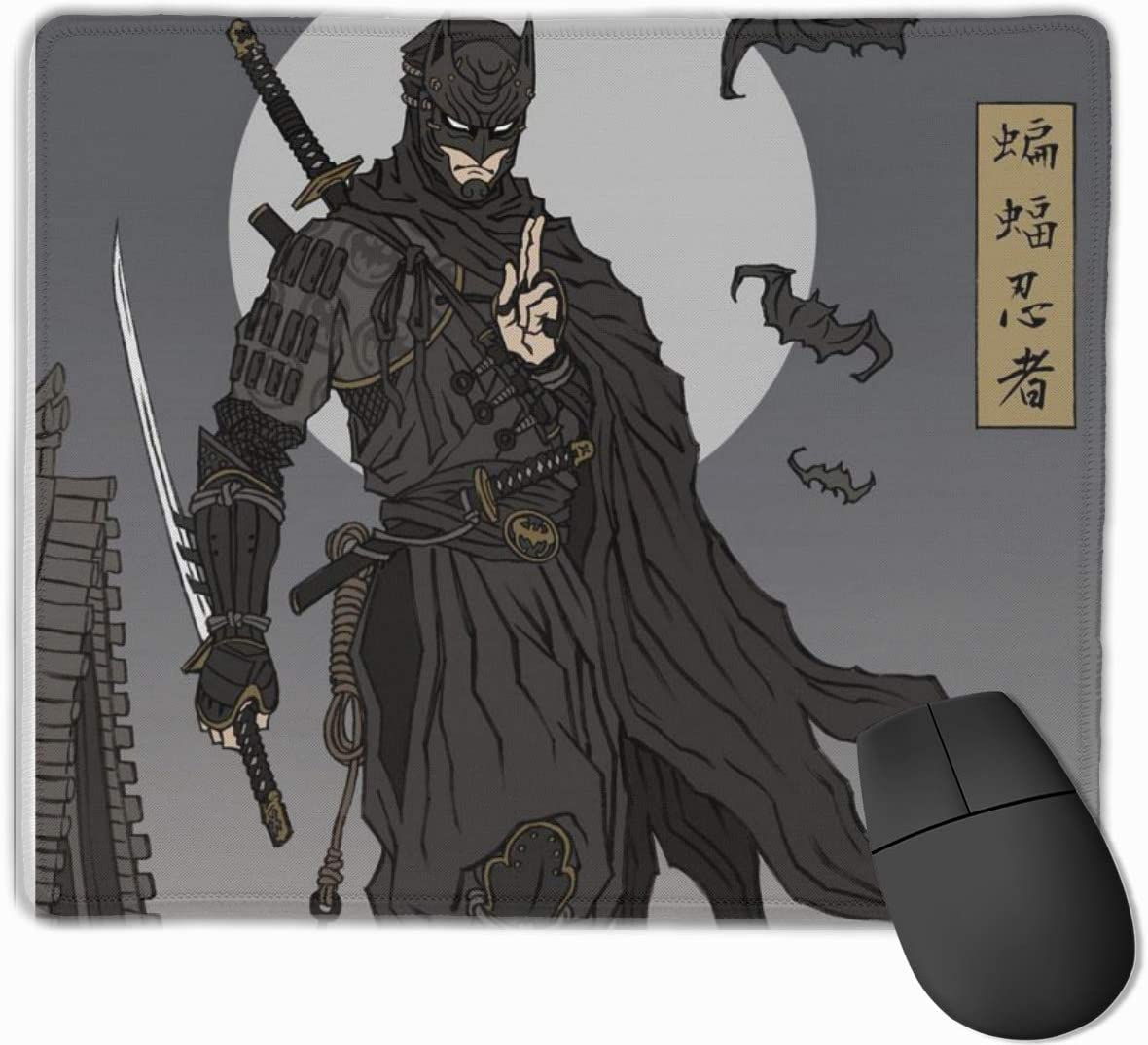 Ninja Extended Gaming Mouse Pad with Non-Slip Rubber Base with Stitched Edges,Office Home Gaming Mouse Mat for Laptops,Computers,PCs,Desktops,9.8 X11.8Inch