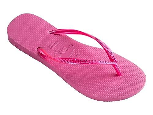 Havaianas Women's Slim Flip Flops, Shocking Pink, 3/4 UK