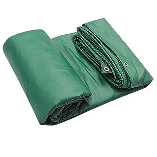 LIYFF- Telo Impermeabile Telo copriauto Tetto da Campeggio Tenda da Campeggio - Telo Verde telato -100% Impermeabile e Anti UV, Spessore 0,43 mm, 500 g/m², 7 Opzioni Formato (Verde)