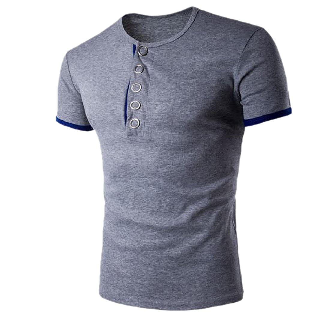 Honey GD Mens Causal Solid Pullover Crew-Neck Short-Sleeve T-Shirt